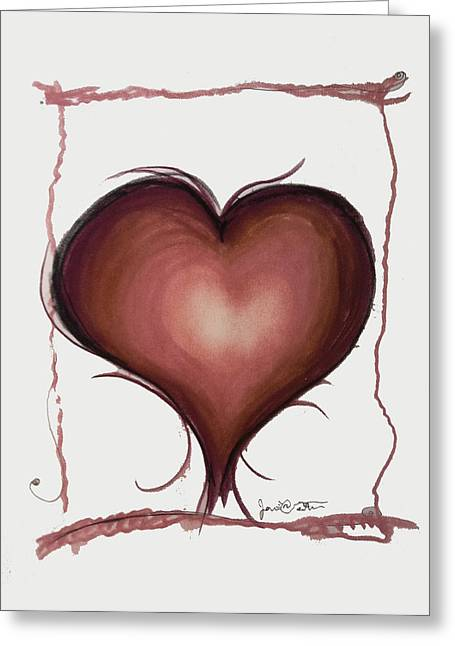 Heart Drawings Greeting Cards - Living By Heart Greeting Card by Jon Veitch