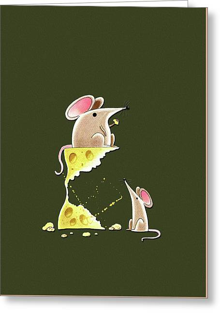 Living Dangerously  Greeting Card by Andrew Hitchen