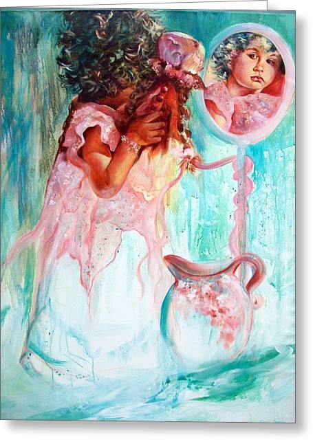 Porcelein Greeting Cards - Living Doll Greeting Card by Estelle Hartley
