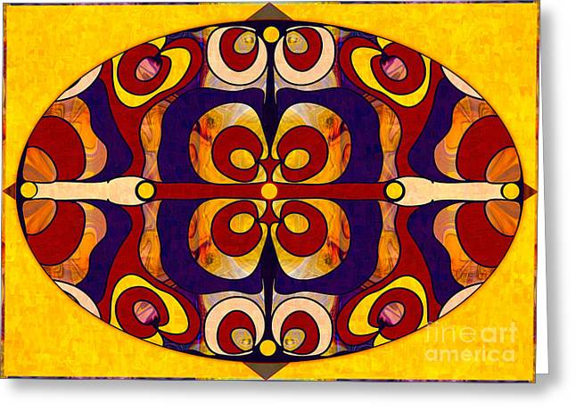 Recently Sold -  - A Hand Mirror Greeting Cards - Living In A Mandala Abstract Bliss Art by Omashte Greeting Card by Omaste Witkowski