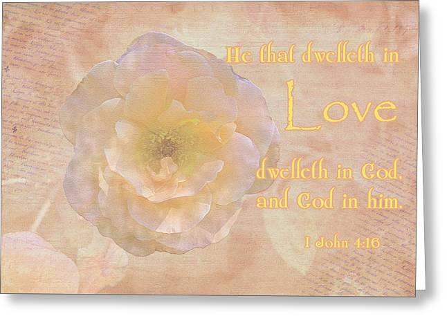 Floral Digital Art Digital Art Greeting Cards - Living in Love Greeting Card by Larry Bishop