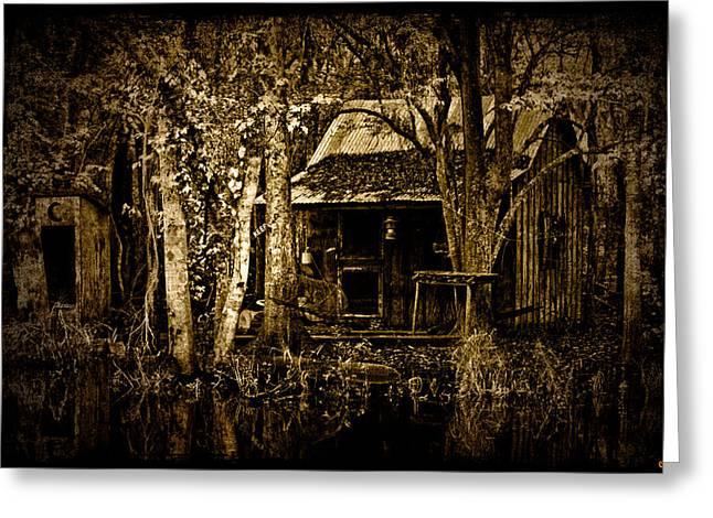 Shack Digital Greeting Cards - Living on the Bayou Greeting Card by Chris Lord