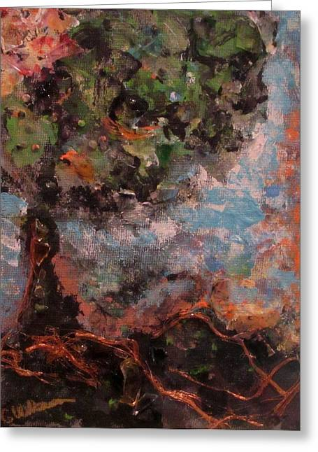 Tree Roots Mixed Media Greeting Cards - Living Roots Greeting Card by Ginna Wilkerson