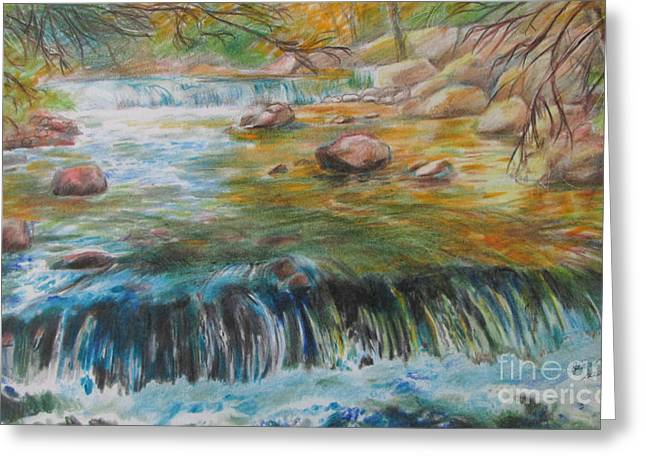 Living Water Greeting Card by Jeanette Skeem