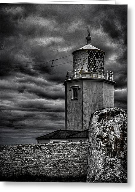 Lizard Lighthouse Cornwall Greeting Card by Martin Newman