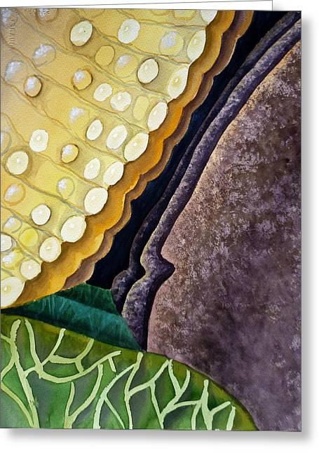 Bedroom Art Paintings Greeting Cards - Lizard Skin Abstract III Greeting Card by Irina Sztukowski