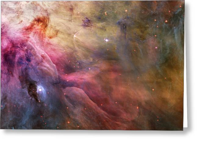 Ll Ori And The Orion Nebula Greeting Card by Adam Romanowicz