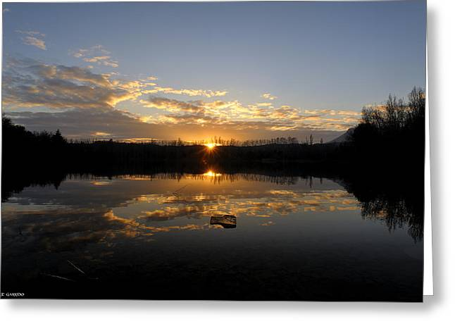 Reflex Greeting Cards - Llac de grauges Greeting Card by Albert Garrido