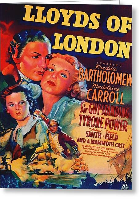 1936 Movies Greeting Cards - Lloyds of London 1936 Greeting Card by Mountain Dreams