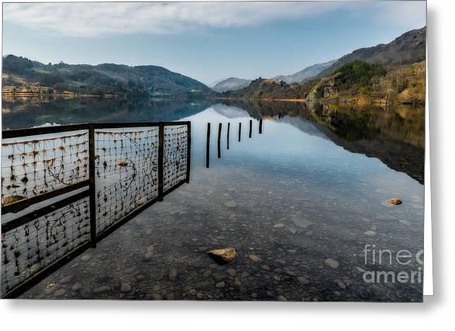 Crag Greeting Cards - Llyn Gwynant Greeting Card by Adrian Evans