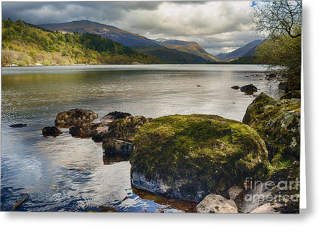 Stone Steps Photographs Greeting Cards - Llyn Padarn Greeting Card by Amanda And Christopher Elwell
