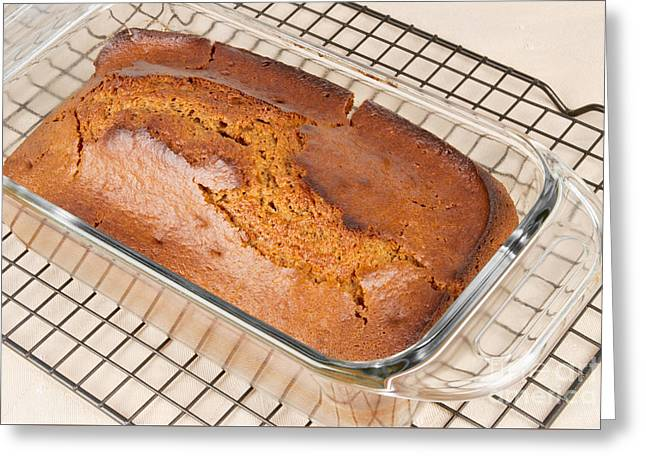 Loaf Of Pumpkin Spice Bread Greeting Card by Vizual Studio