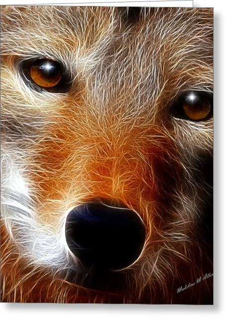 Smudgeart Greeting Cards - Lobo Greeting Card by Madeline  Allen - SmudgeArt