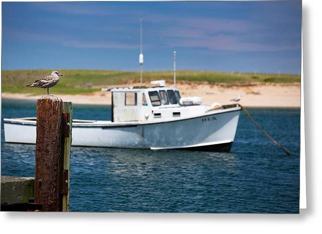 Cape Neddick Lighthouse Greeting Cards - Lobster Boat Greeting Card by Emmanuel Panagiotakis
