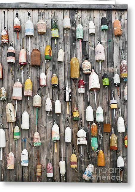 Lobster Shack Greeting Cards - Lobster Buoys Greeting Card by John Greim