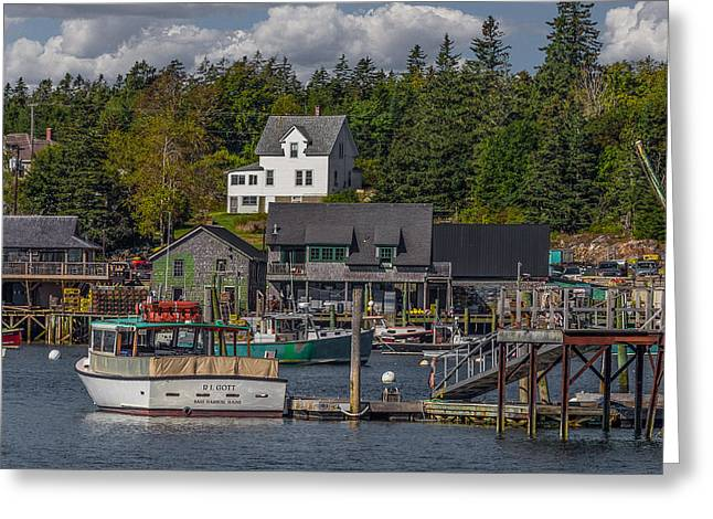 Lobster Fishing Boats Greeting Card by Capt Gerry Hare