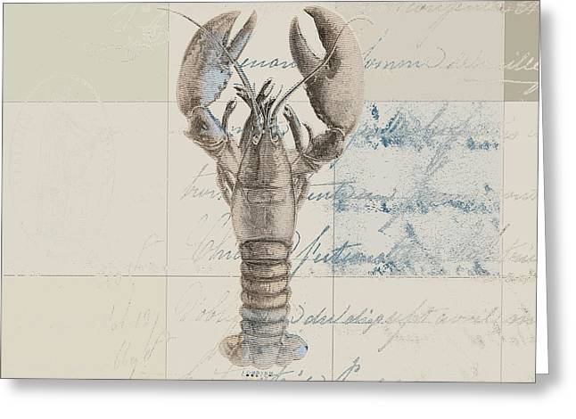 Cushion Greeting Cards - Lobster - j122129185-1212 Greeting Card by Variance Collections