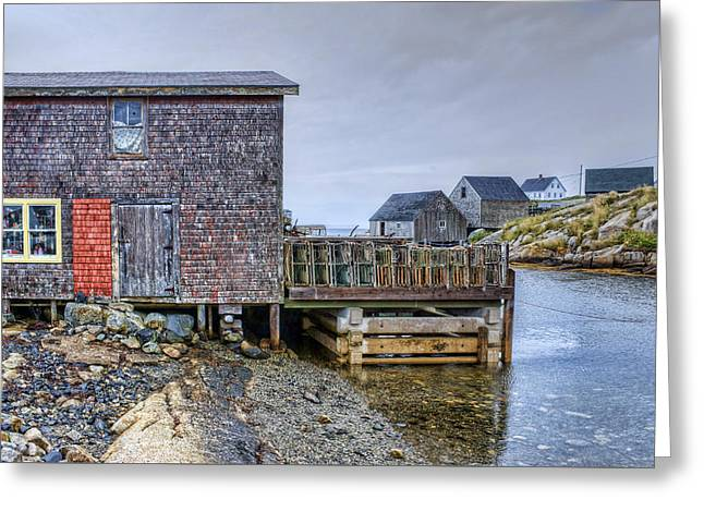 Lobster Shack - Peggy's Cove Greeting Card by Nikolyn McDonald
