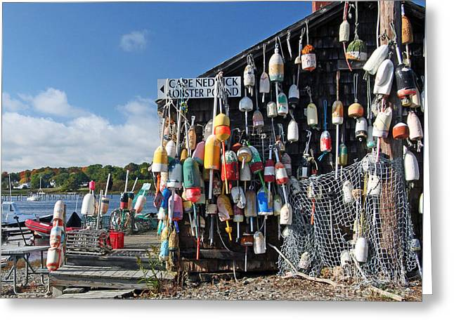 Cape Neddick Greeting Cards - Lobster Shack Greeting Card by Steve  Gass