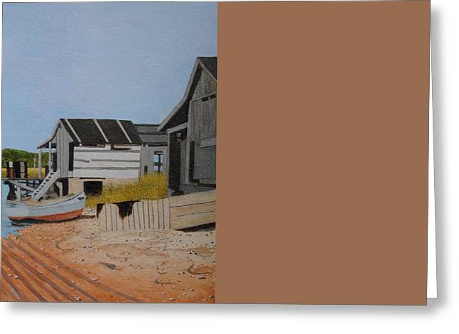 Lobster Shack Paintings Greeting Cards - Lobster Shacks Greeting Card by Paul Larson