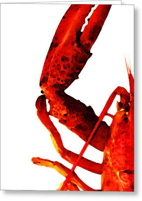 Food Digital Greeting Cards - Lobster - The Left Side Greeting Card by Sharon Cummings