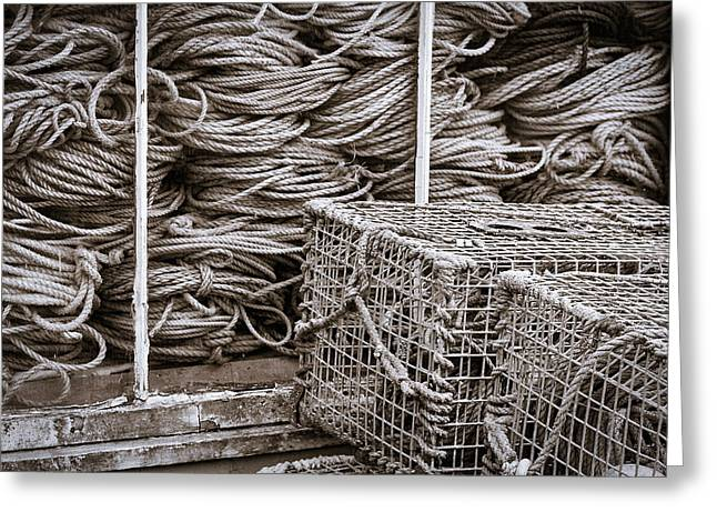 Coastal Maine Greeting Cards - Lobster Traps and Ropes #2 Greeting Card by Stuart Litoff