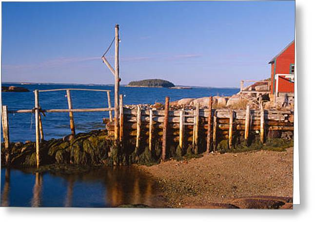 Lobster Village In Autumn, Stonington Greeting Card by Panoramic Images