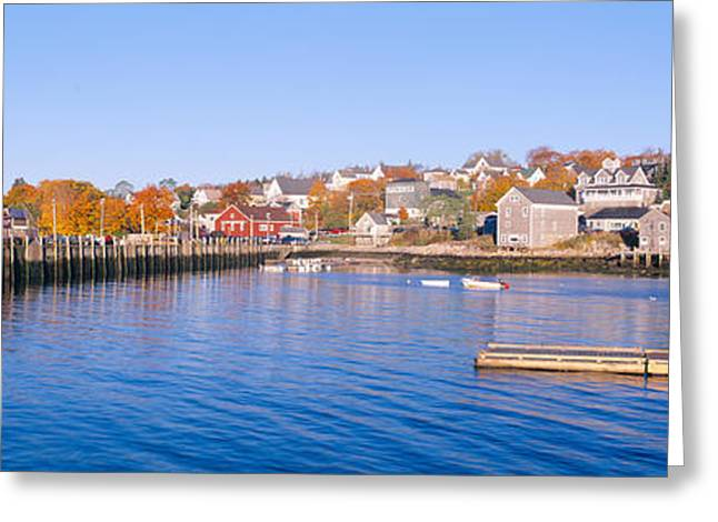 Lobster Village, Stonington, Maine Greeting Card by Panoramic Images