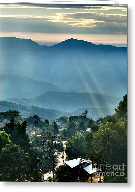 Localities Greeting Cards - Locality View Greeting Card by Gaisinglung Gangmei