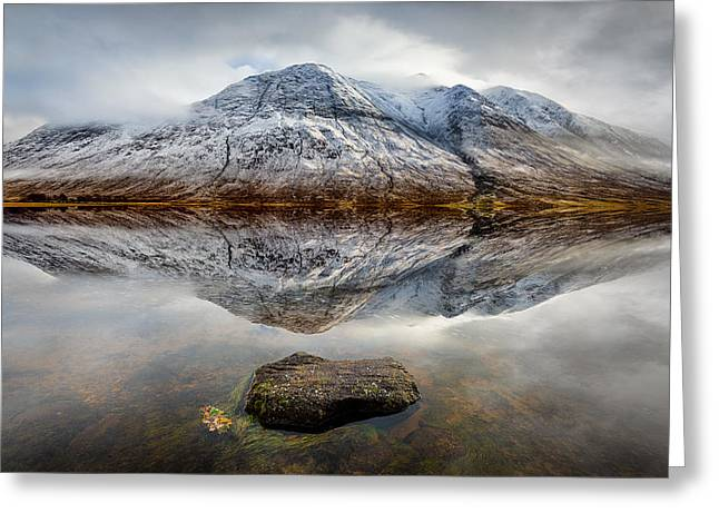 Loch Etive Reflection Greeting Card by Dave Bowman