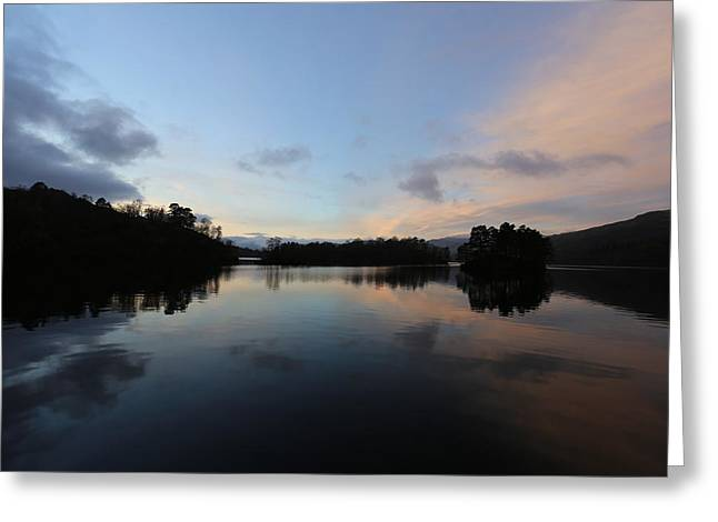 Gloaming Greeting Cards - Loch Katrine in the Gloaming Greeting Card by Victoria Whitehead