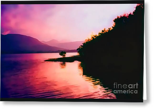 Artistic Landscape Photos Greeting Cards - Loch Lien oil effect image Greeting Card by Tom Prendergast