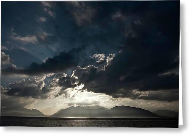 Loch Linnhe Sunset Greeting Card by Mark Denham