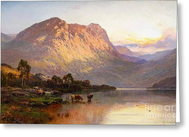 Loch Lomond And A Trout Stream Near Stirling Greeting Card by Celestial Images