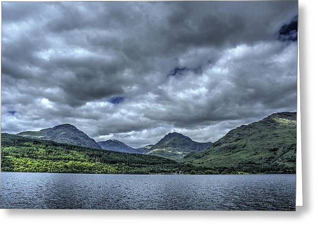 Hdr Landscape Greeting Cards - Loch Lomond Greeting Card by Chris Whittle