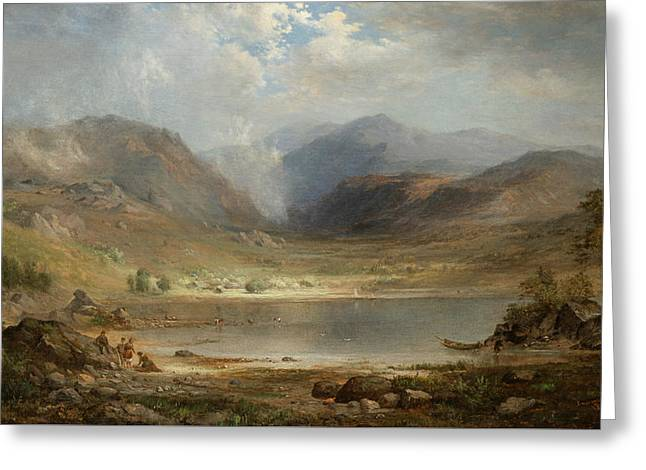 Loch Long Greeting Card by Robert Seldon Duncanson