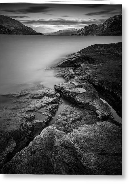 Scottish Loch Greeting Cards - Loch Maree Greeting Card by Dave Bowman