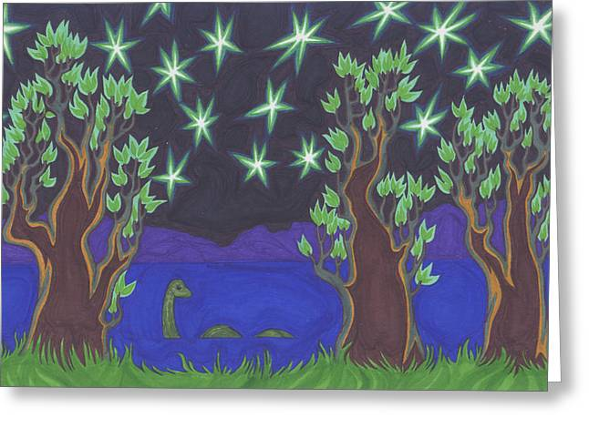 Loch Ness Night Greeting Card by James Davidson
