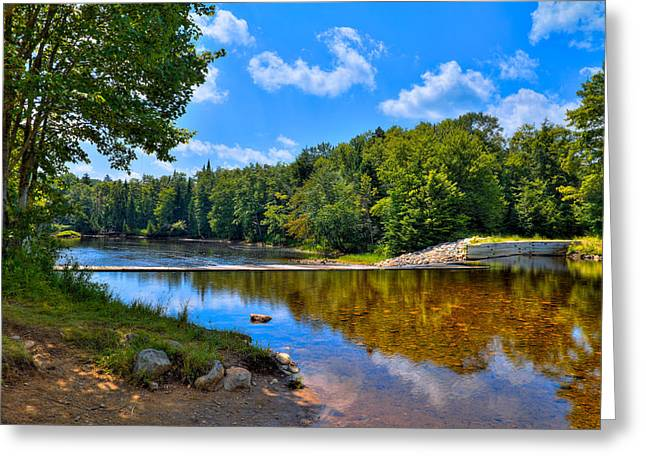 Spillways Greeting Cards - Lock and Dam on the Moose River Greeting Card by David Patterson