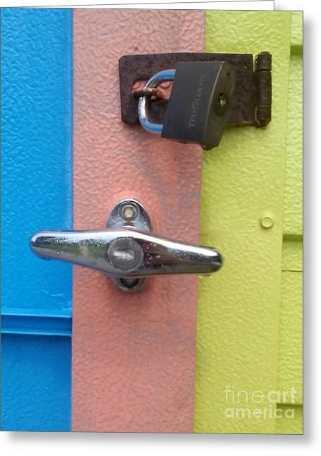 Beach Photography Greeting Cards - Lock it Up Greeting Card by Chrisann Ellis