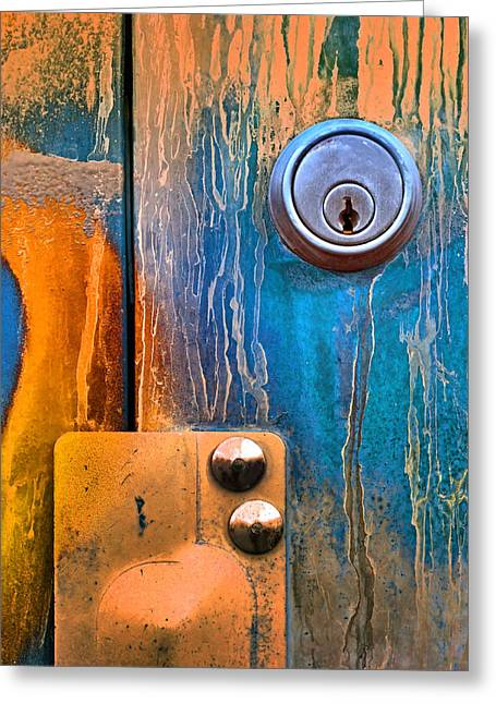 Man Made Abstract Greeting Cards - Locked Away in Colour Greeting Card by Tara Turner