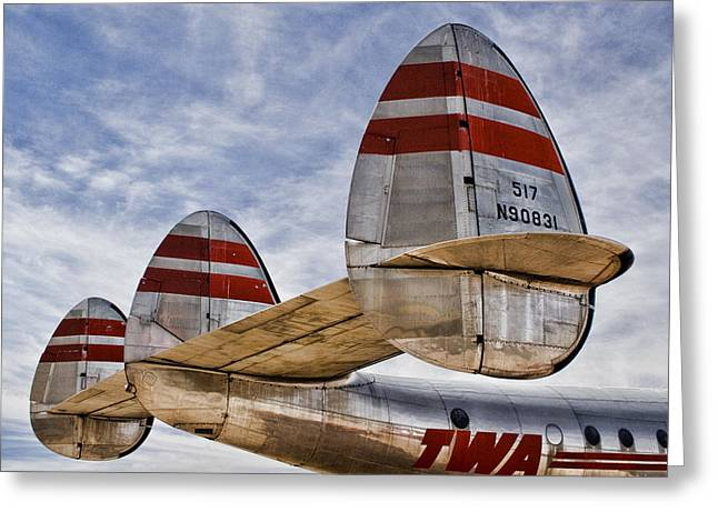 Lockheed Constellation Greeting Card by Carol Leigh