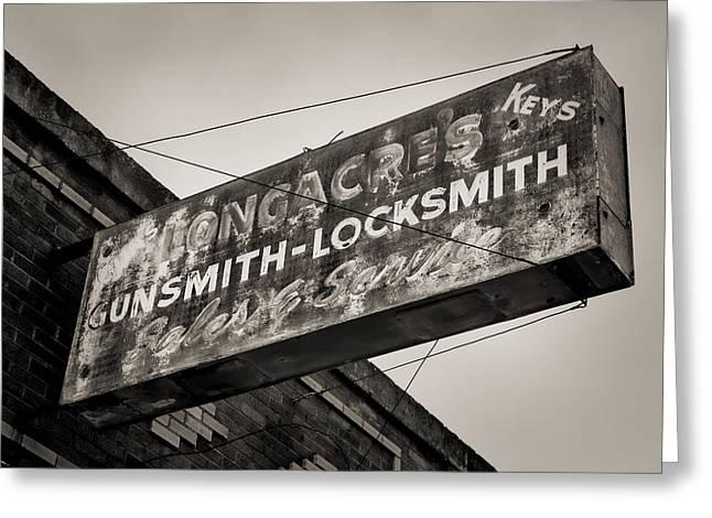 Locks And Guns Greeting Card by Stephen Stookey