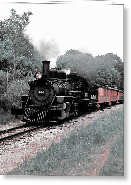 Railroad Tie Greeting Cards - Locomotion Greeting Card by Scott Hovind