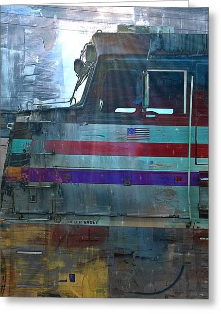 Abstract Digital Digital Greeting Cards - Locomotive Abstract Greeting Card by Lisa S Baker