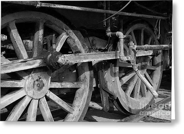 Hightower Greeting Cards - Locomotive Wheels Greeting Card by Tim Hightower