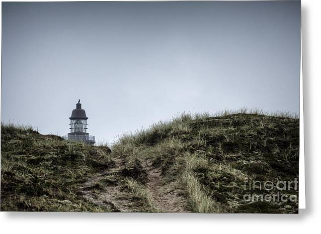 Overcast Day Greeting Cards - Lodbjerg Lighthouse 5 Greeting Card by Casper Wilkens
