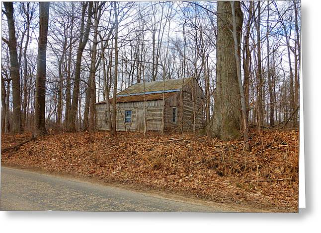 Lawn Chair Greeting Cards - Log Cabin Revisited Spring 2015 Two Greeting Card by Tina M Wenger