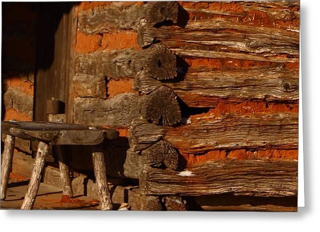 Log Cabin Greeting Card by Robert Frederick