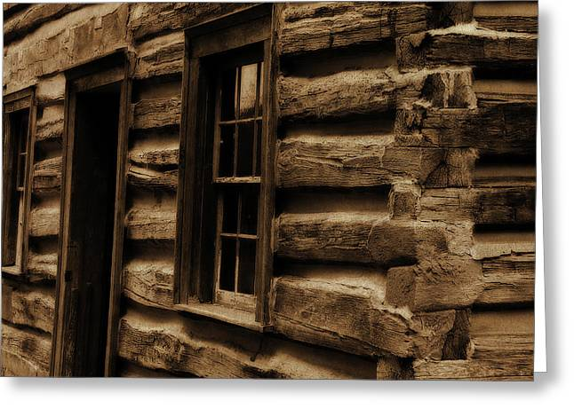 Log Cabins Greeting Cards - Log Cabin Greeting Card by Scott Hovind